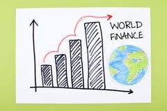 Carta global de las finanzas Foto de archivo libre de regalías