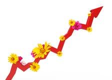 Carta gráfica com flores Imagem de Stock Royalty Free