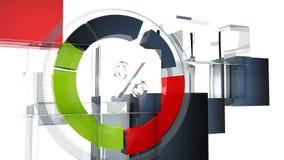 Carta gráfica do painel da informação futurista Foto de Stock Royalty Free