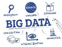 Carta grande dos dados Imagens de Stock