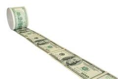 Carta igienica dei soldi Fotografia Stock Libera da Diritti