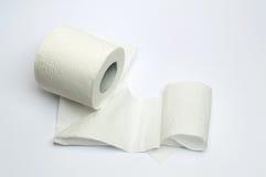 Carta igienica su bianco Fotografia Stock