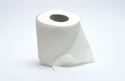 Carta igienica su bianco Fotografia Stock Libera da Diritti