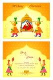 Carta indiana dell'invito di nozze royalty illustrazione gratis