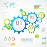 Carta industrial de Infographics Foto de Stock Royalty Free
