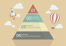 Carta Infographic da pirâmide ilustração do vetor
