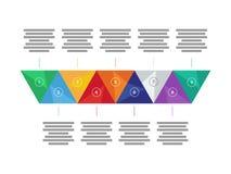 Carta infographic do diagrama da apresentação triangular geométrica colorida do arco-íris do espectro Molde do gráfico de vetor Fotografia de Stock Royalty Free