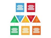 Carta infographic do diagrama da apresentação triangular geométrica colorida do arco-íris do espectro Molde do gráfico de vetor Imagem de Stock
