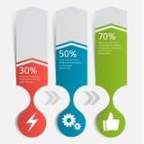 Carta infographic moderna Molde para a apresentação Ilustração do vetor Imagem de Stock