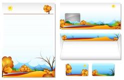 Carta intestata con l'autunno di tema Immagini Stock