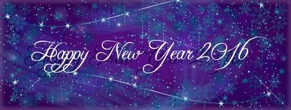 Carta intestata del nuovo anno, fondo dell'insegna Immagine Stock