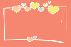 Carta intestata di amore fotografie stock libere da diritti