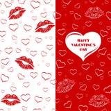 Carta, invito o aletta di filatoio di San Valentino Immagine Stock