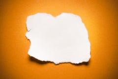 Carta lacerata in bianco Immagini Stock