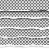 Carta lacerata di vettore realistico con i bordi strappati con spazio per testo Insegna lacerata della pagina per il web e la sta Fotografie Stock