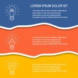 Carta lacerata, elementi di progettazione Immagini Stock