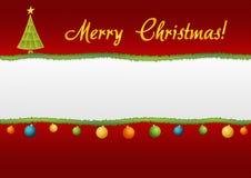 Carta lacerata - Natale disegnato Fotografia Stock Libera da Diritti