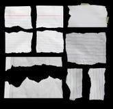 Carta lacerata, pezzo di carta lacerata Fotografie Stock Libere da Diritti