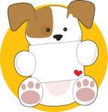 Carta linda del perrito Fotografía de archivo libre de regalías