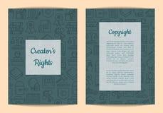 Carta lineare degli elementi del copyright di stile di vettore illustrazione vettoriale