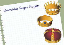 Carta a los reyes magos Stock Photo