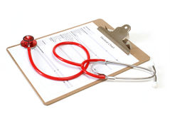 Carta médica Imagens de Stock
