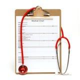 Carta médica Foto de Stock Royalty Free