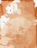 Carta macchiata tè di colore di acqua di Splotchy immagine stock libera da diritti