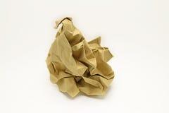 Carta marrone di Clumpled fotografie stock libere da diritti