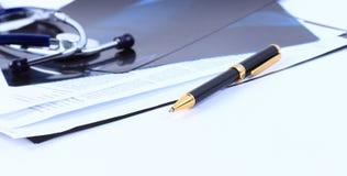 Carta medica della maniglia di immagine Fotografia Stock Libera da Diritti