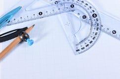 Carta millimetrata Fotografie Stock