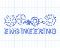 Carta millimetrata di ingegneria illustrazione vettoriale