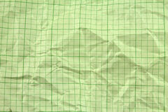 Carta millimetrata gialla sgualcita Fotografie Stock