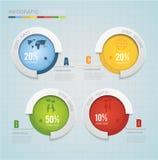 Carta moderna abstrata do círculo infographic ilustração stock