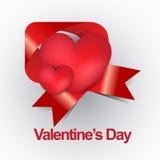 Carta moderna felice di giorno di biglietti di S. Valentino nuova Fotografie Stock Libere da Diritti