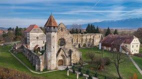 Carta Monastery former Cistercian Benedictine religious archit. Carta, Romania. The old ruined cistercian abbey from Transylvania Royalty Free Stock Image