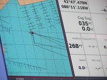 Carta náutica Imagem de Stock Royalty Free