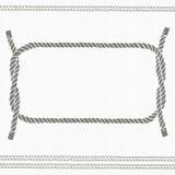Carta nautica con la struttura e le corde illustrazione di stock