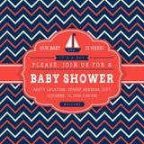 Carta nautica della doccia di bambino Fotografia Stock