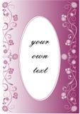 Carta nel colore porpora con la decorazione delicata del fiore royalty illustrazione gratis