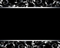 Carta nera di lusso elegante Fotografia Stock