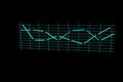 Carta no estilo de Wireframe do holograma Rendição 3D agradável Imagens de Stock