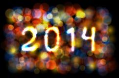 Carta 2014 nuovo anno/di Natale. Illustrazione di Stock