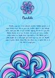 Carta o invito Elementi decorativi dell'annata Fondo disegnato a mano Islam, royalty illustrazione gratis