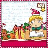 Carta a Papá Noel. Fotos de archivo libres de regalías