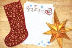 Carta a Papá Noel Fotos de archivo libres de regalías