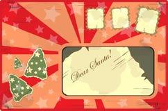 Carta a Papá Noel Fotos de archivo