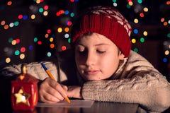 Carta a Papá Noel Imágenes de archivo libres de regalías