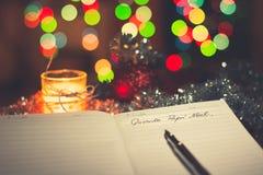 Carta Papà ¡ Noel 免版税库存照片