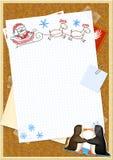 Carta a Papá Noel Foto de archivo libre de regalías